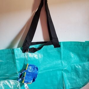 ikea bags large 2pc seafoam green tiffany blue new